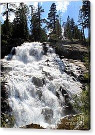 Acrylic Print featuring the photograph Mountain Waterfall  by Anne Raczkowski