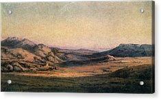 'mountainous Countryside' Painting By Edmond Barbazzona Acrylic Print by Photos.com