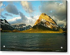 Mountains At Many Glacier Acrylic Print by Jeff Swan