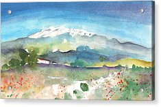Mountains By Agia Galini Acrylic Print by Miki De Goodaboom