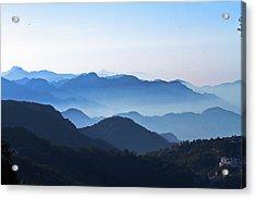Mountains Layers Acrylic Print by Tarun Chopra