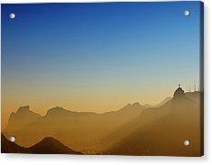 Mountains Of Rio De Janeiro Acrylic Print by Antonello