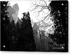 Mountains Of Yosemite . 7d6213 . Black And White Acrylic Print by Wingsdomain Art and Photography