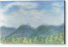 Acrylic Print featuring the pastel Mountains Over Lennox by Denny Morreale