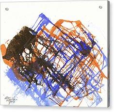 Mountainscape 03 Acrylic Print by David W Coffin