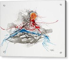 Mountainscape 06 Acrylic Print by David W Coffin