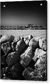 Mourne Granite Irish Dry Stone Wall Ireland Acrylic Print by Joe Fox