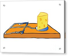 Mousetrap With Cheese - Trap Acrylic Print by Michal Boubin