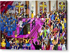 ''moved By The Word'' Acrylic Print by Mccormick  Arts