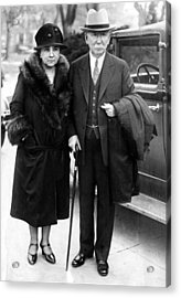 Mr. And Mrs. Edward L. Doheny, Oil Acrylic Print by Everett