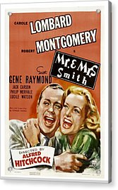 Mr. And Mrs. Smith, Robert Montgomery Acrylic Print by Everett