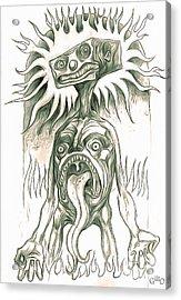 Mr. Blockhead In Purgatorio Acrylic Print by Gregory Dyer