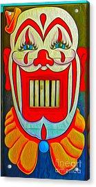 Mr. Clown Teeth Acrylic Print by Gregory Dyer