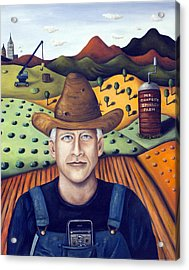Mr Cooper's Spinach Farm Acrylic Print by Leah Saulnier The Painting Maniac