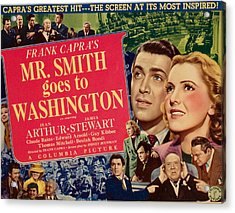 Mr. Smith Goes To Washington, James Acrylic Print by Everett