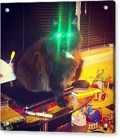 Mr Worf! Ready The Lasers!!! #lol Acrylic Print