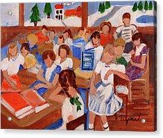 Mrs. Chamberlain's Fifth Grade In Canajoharie Acrylic Print