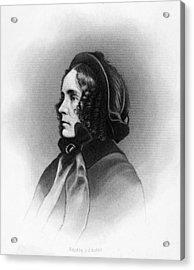 Mrs. Franklin Pierce, Engraved By Jc Acrylic Print by Everett