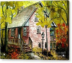 Acrylic Print featuring the painting Mrs. Henry's Home 2 by Gretchen Allen