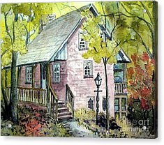 Acrylic Print featuring the painting Mrs. Henry's Home by Gretchen Allen