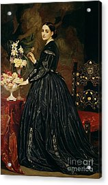 Mrs James Guthrie Acrylic Print by Frederic Leighton