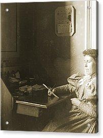 Mrs W - April 1885 Acrylic Print by Jan W Faul