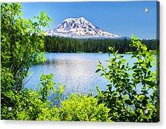 Mt Adams And Takhlakh Lake Acrylic Print