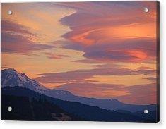 Mt Adams Morning Acrylic Print by Dan Madden