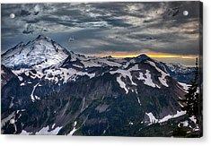 Mt Baker Acrylic Print by A A