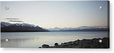 Acrylic Print featuring the photograph Mt Cook From Lake Pukaki by Peter Mooyman