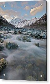 Mt Cook Stream Acrylic Print by Sven Klerkx