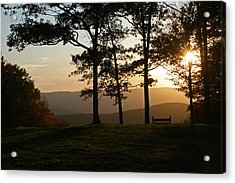 Mt Pisqah Sunset 2 Acrylic Print