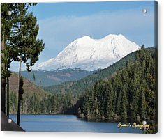 Mt. Rainier From Mineral Lake Acrylic Print