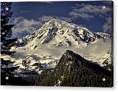 Mt Rainier Acrylic Print by Heather Applegate