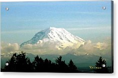 Mt. Rainier In Cloud Blanket Acrylic Print
