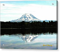 Acrylic Print featuring the photograph Mt. Rainier On A Summer Day by Sadie Reneau