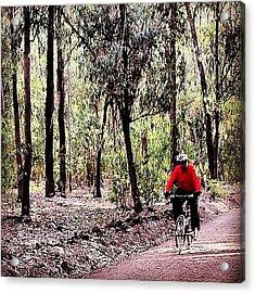 #mtb #vtt #cycle #cycling #forest Acrylic Print