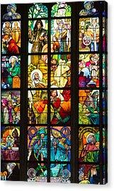Mucha Window Saint Vitus Cathedral Prague Acrylic Print