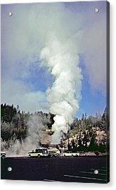 Mud Volcano Acrylic Print by Rod Jones