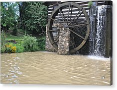 Muddy Water After The Rain Acrylic Print by Jan Amiss Photography