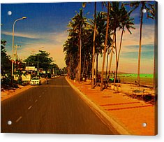 Acrylic Print featuring the photograph Muine Road by Arik S Mintorogo