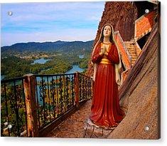 Mujer De La Piedra Acrylic Print by Skip Hunt
