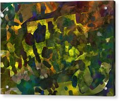 Multi-colored Abstract Acrylic Print by Christine Crawford
