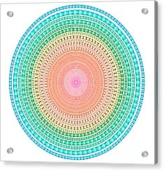 Multicolor Circle Acrylic Print