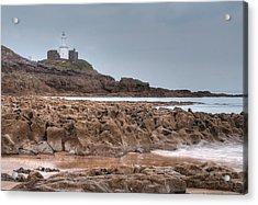Mumbles Lighthouse Acrylic Print by Julie L Hoddinott