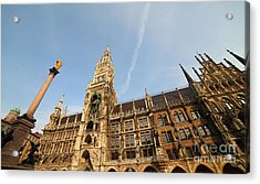 Munich City Hall Acrylic Print by Holger Ostwald