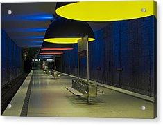 Munich Subway No.3 Acrylic Print by Wyn Blight-Clark