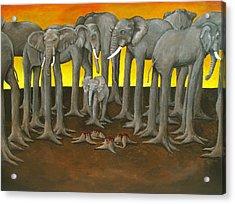 Murder The Wise Oh Ganesha Acrylic Print by David  Nixon