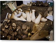 Mushrooms At The Market Acrylic Print by Heather Applegate