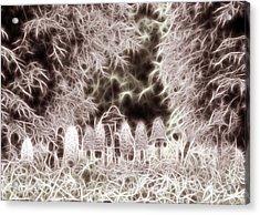 Acrylic Print featuring the digital art Mushrooms by Odon Czintos